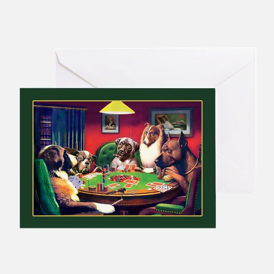 Poker Dogs Bluff Greeting Card