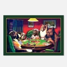 Poker Dogs Bluff Postcards (Package of 8)
