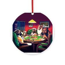 Poker Dogs Bluff Ornament (Round)