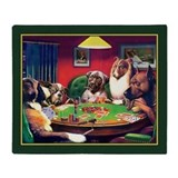Poker dogs Fleece Blankets
