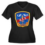USS GUARDFIS Women's Plus Size V-Neck Dark T-Shirt