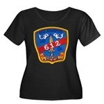 USS GUAR Women's Plus Size Scoop Neck Dark T-Shirt