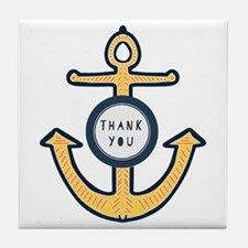 Anchor Thank you Tile Coaster