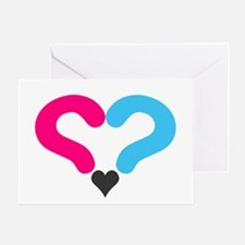 Maternity Question Mark Heart Greeting Cards