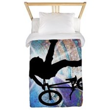 BMX in a Grunge Tunnel TWIN Twin Duvet