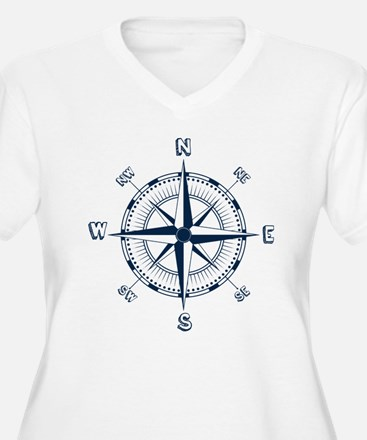 Nautical Compass Plus Size T-Shirt
