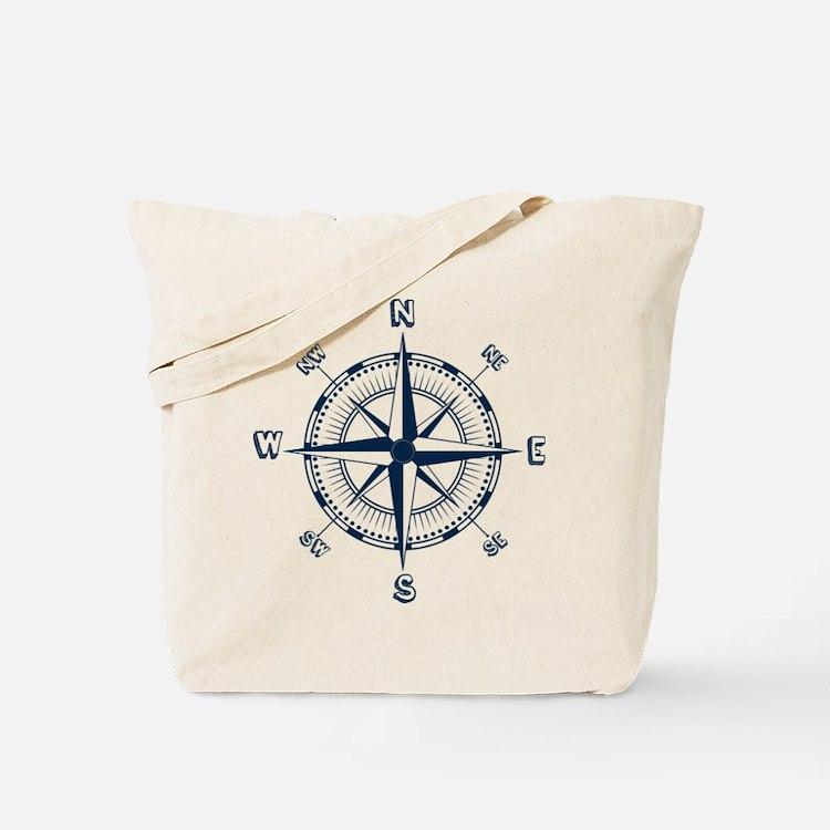 Nautical Compass Tote Bag