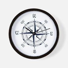 Nautical Compass Wall Clock