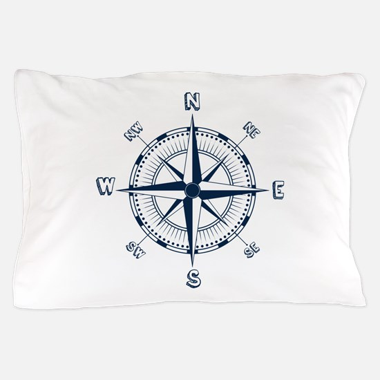 Nautical Compass Pillow Case