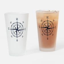 Nautical Compass Drinking Glass