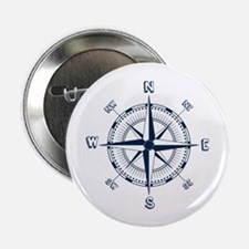 """Nautical Compass 2.25"""" Button (100 Pack)"""