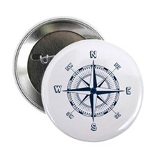 """Nautical Compass 2.25"""" Button (10 Pack)"""