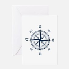 Nautical Compass Greeting Cards