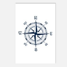 Nautical Compass Postcards (package Of 8)