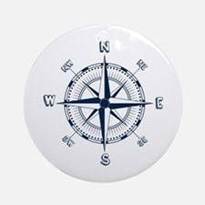 Nautical Compass Ornament (round)