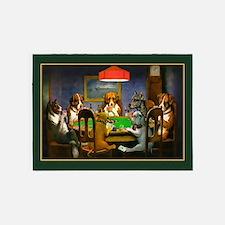 Poker Dogs Friend (green Border) 5'x7'area Rug