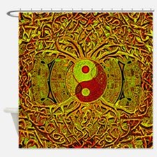 Tree Of Life Yin Yang Mandala In Shower Curtain