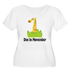 Funny-Due-In-November-Mater Plus Size T-Shirt
