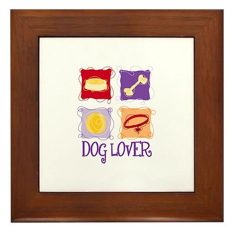 DOG LOVER Framed Tile