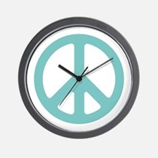 Water Peace Sign Wall Clock