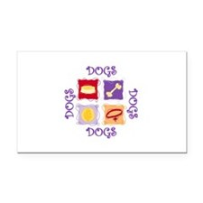 DOGS Rectangle Car Magnet