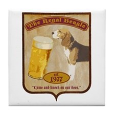 Regal Beagle Tile Coaster