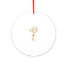 Wheat Bundle Ornament (Round)