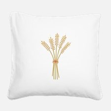 Wheat Bundle Square Canvas Pillow