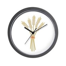 Wheat Bundle Wall Clock