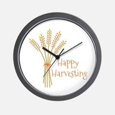 Happy Harvesting Wall Clock