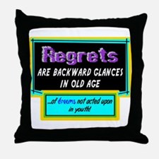 Regrets Throw Pillow