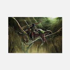 dragon rider Rectangle Magnet