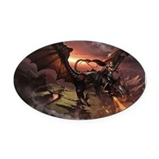 dragon rider 2 Oval Car Magnet