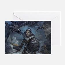 dragonborn and alduin Greeting Card