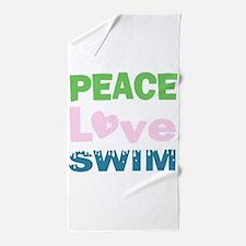 peace.love.swim Beach Towel