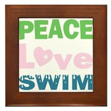 peace.love.swim Framed Tile