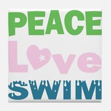 peace.love.swim Tile Coaster