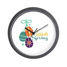 Celebrate Spring Wall Clock