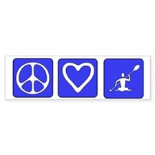 Peace Love Kayaking Bumper Bumper Sticker