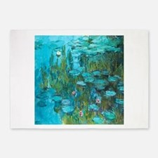 Water Lilies by Monet 5'x7'Area Rug