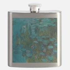 Water Lilies by Monet Flask