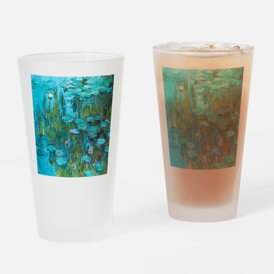 Water Lilies by Monet Drinking Glass