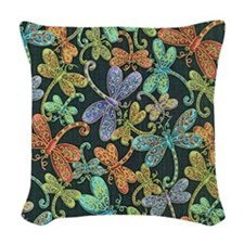 Dragonfly Woven Throw Pillow