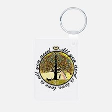 Tree of Life All You Need is Love Keychains