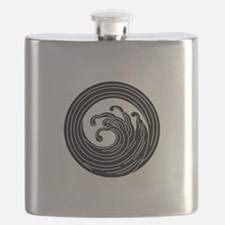 Swirl-like wave circle Flask