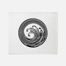 Swirl-like wave circle Throw Blanket