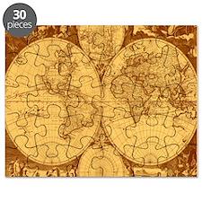 Exquisite Antique Atlas Map Puzzle