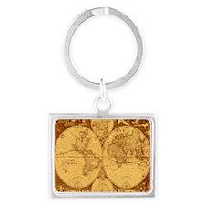 Exquisite Antique Atlas Map Keychains