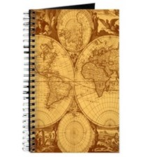 Exquisite Antique Atlas Map Journal
