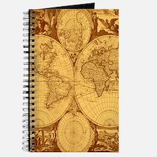 Exquisite Antique Atlas Map Journal
